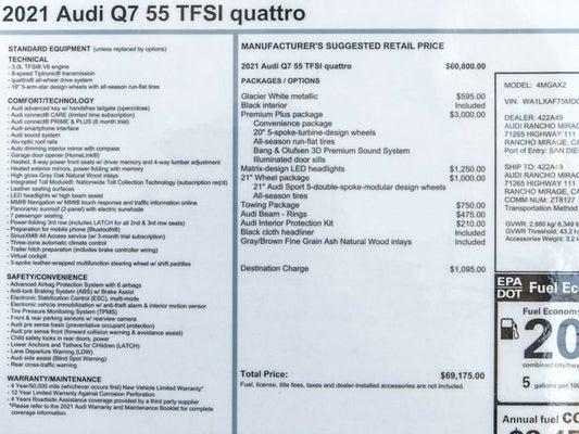 2021 Audi Q7 55 Premium Plus quattro Rancho Mirage CA ...